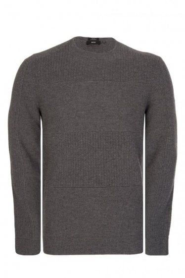 Hugo Boss Naranjo Grey Knitted Jumper