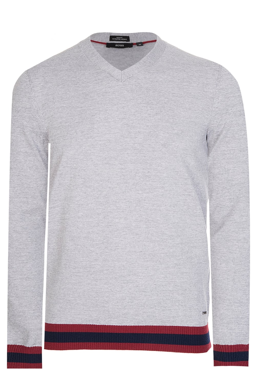 62162b33cdbc Hugo Boss Navello Slim Fit Knitted Jumper Grey