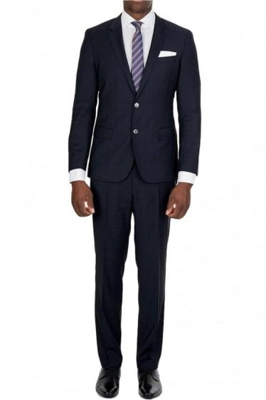 Hugo Boss Navy Checked Suit