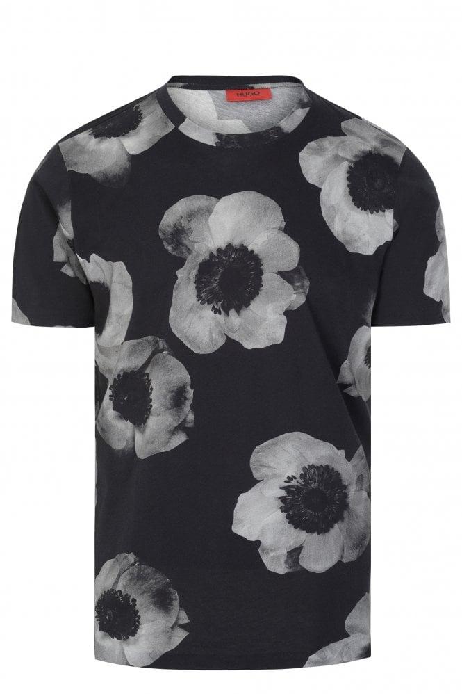 Hugo Boss Negative-effect Floral T-shirt