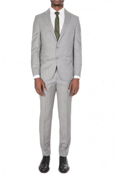 Hugo Boss Nortan/Benno Grey Checked Suit