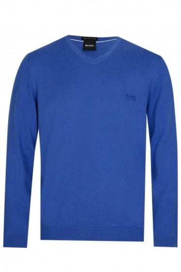 Hugo Boss 'Pacello-L' Knitted Jumper Blue
