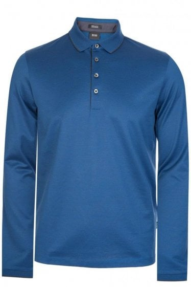 Hugo Boss Pado 03 Long Sleeved Polo Blue