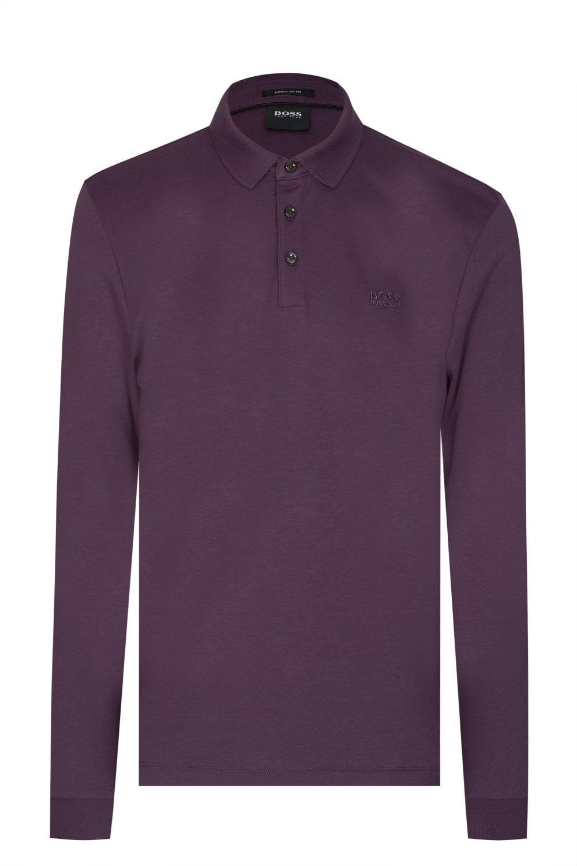 51c343e5 BOSS Hugo Boss Pado 11 Long Sleeved Polo Shirt - Clothing from ...