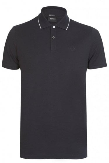 Hugo Boss Parlay 09 Short Sleeved Polo Black