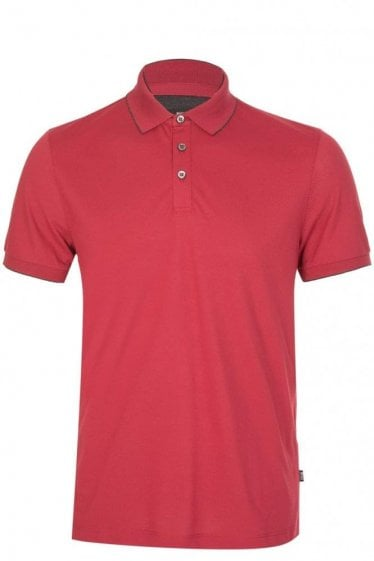 Hugo Boss Pazel Short Sleeved Polo Red