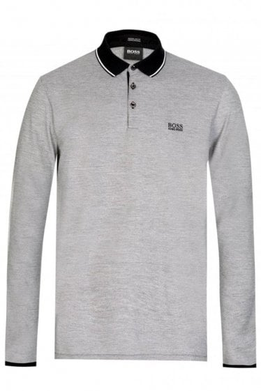 Hugo Boss Pearl 08 Long Sleeved Polo Black