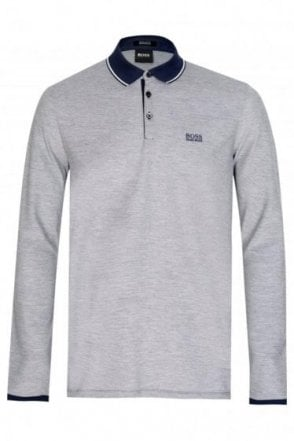 Hugo Boss Pearl 08 Long Sleeved Polo Navy