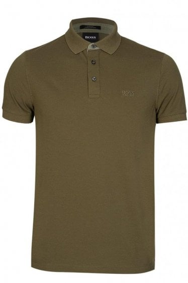 Hugo Boss Penrose 14 Short Sleeve Polo Green