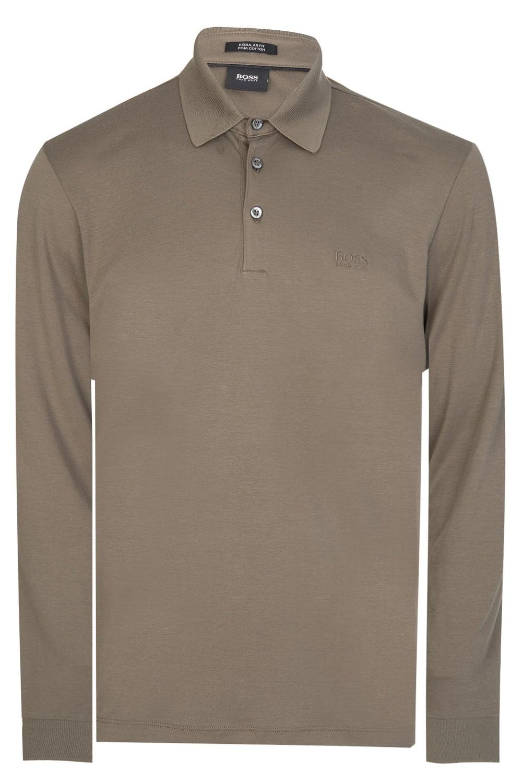 3ed0037a6 Hugo Boss Phillian Long Sleeved Polo Khaki