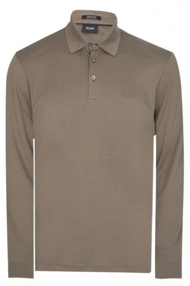 Hugo Boss Phillian Long Sleeved Polo Khaki