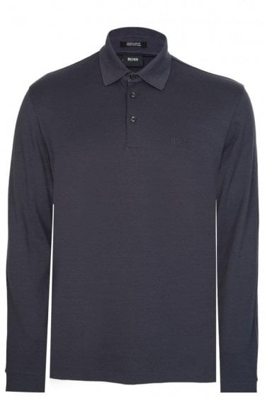 Hugo Boss Phillian Long Sleeved Polo Navy
