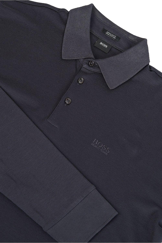 22366650 BOSS Hugo Boss Phillian Long Sleeved Polo Navy - Clothing from ...