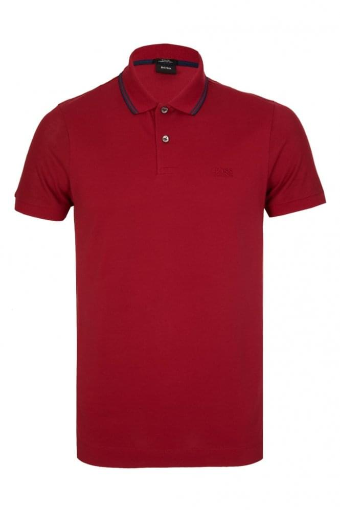 HUGO BOSS Phillipson 13 Slim Fit Polo Red