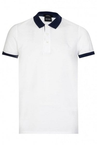 Hugo Boss Phillipson 26 Short Sleeved Polo White
