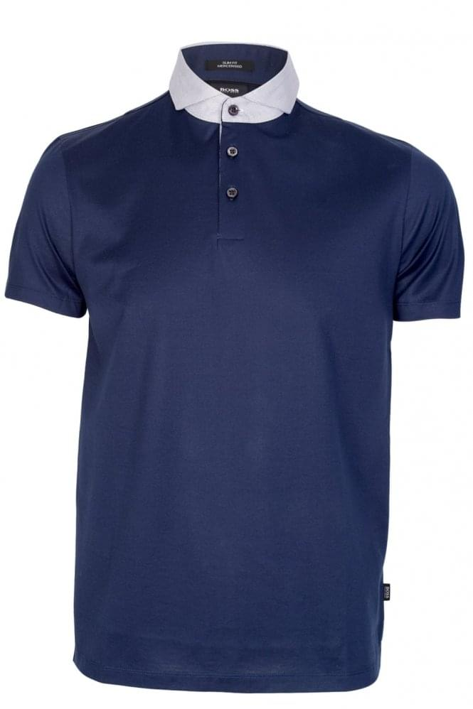 HUGO BOSS Plummer 01 Slim Fit Polo Navy