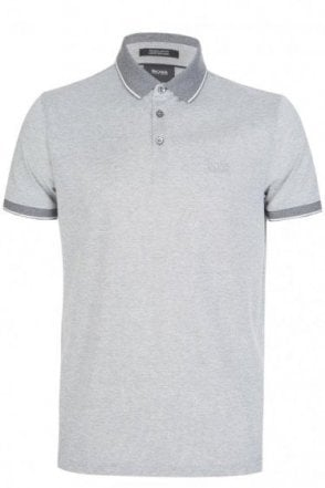 Hugo Boss Prout 01 Short Sleeved Polo Grey