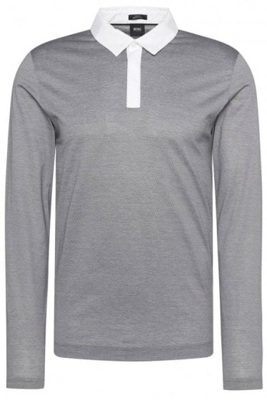 Hugo Boss Putney 01 Polo Shirt Grey