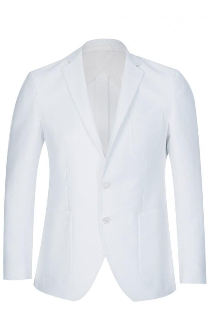 Hugo Boss Raye6 Slim Fit Cotton Jacket White thumbnail