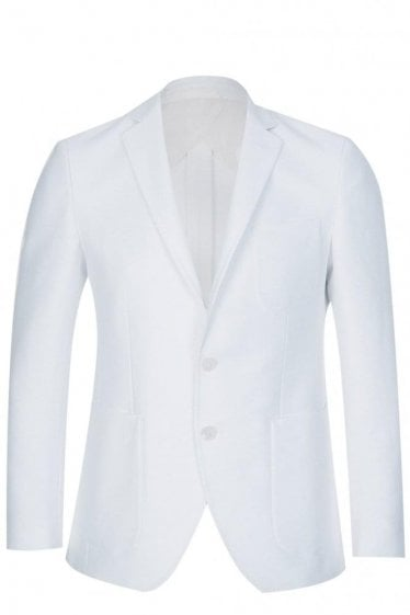 Hugo Boss Raye6 Slim Fit Cotton Jacket White