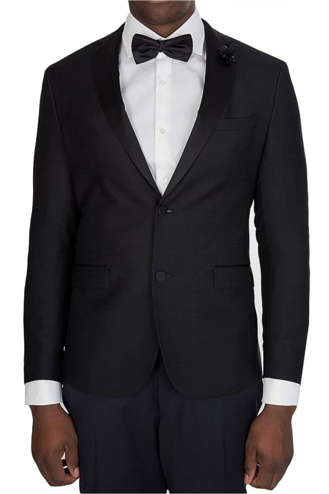 Hugo Boss Renoni 1 Silk Lapel Blazer Black