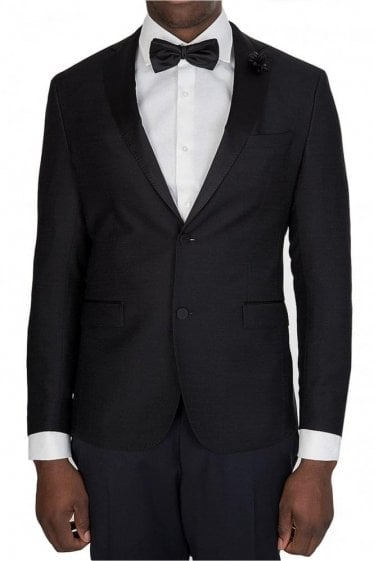Hugo Boss Renoni 1 Silk Lapel Blazer Black