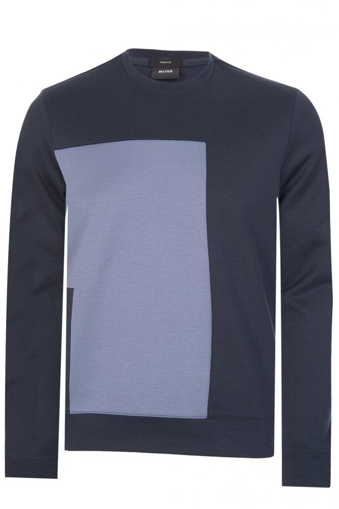 Hugo Boss Skubic 17 Slim Fit Sweatshirt Navy