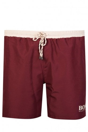 Hugo Boss Starfish Swim Shorts Burgundy