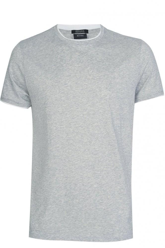 Hugo Boss 'Taber 04' Pima Cotton T-Shirt Grey