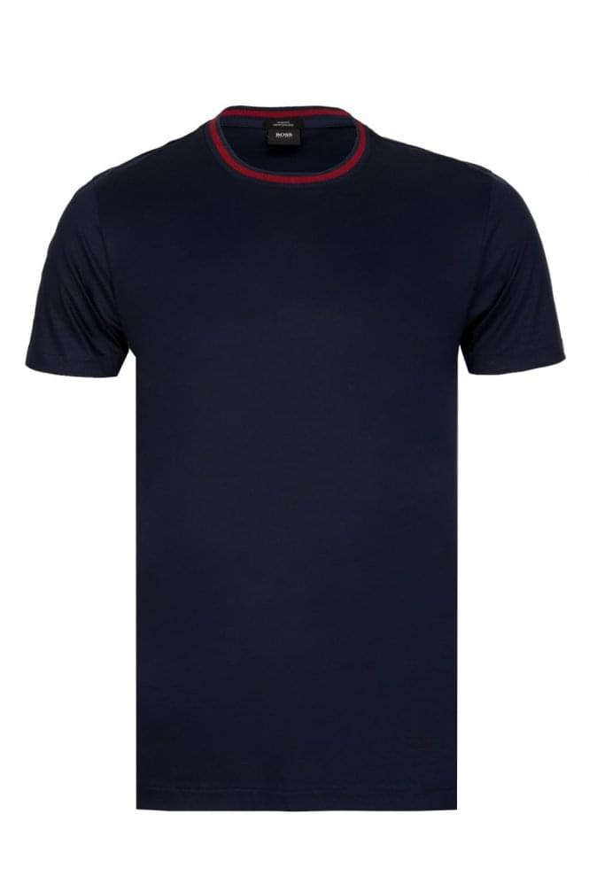 HUGO BOSS Tessler 64 Slim Fit T-Shirt Navy