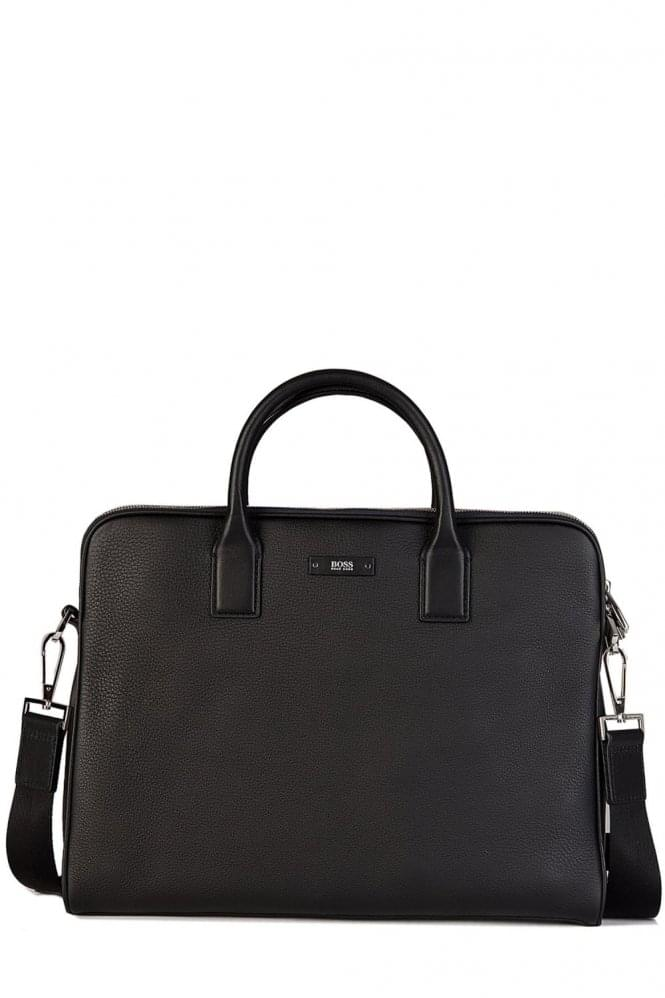 HUGO BOSS Traveller_DZ Leather Bag Black