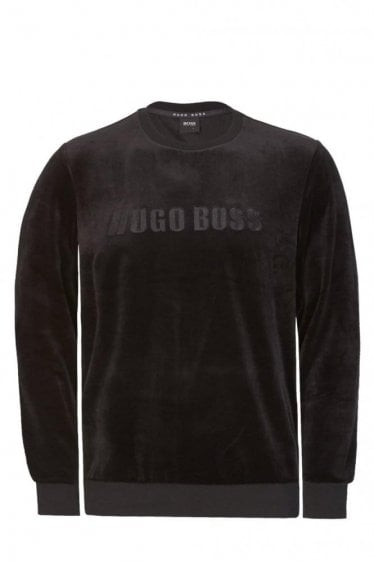 Hugo Boss Velour Sweatshirt Black