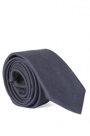 Hugo Boss Wool Mix Tie Navy