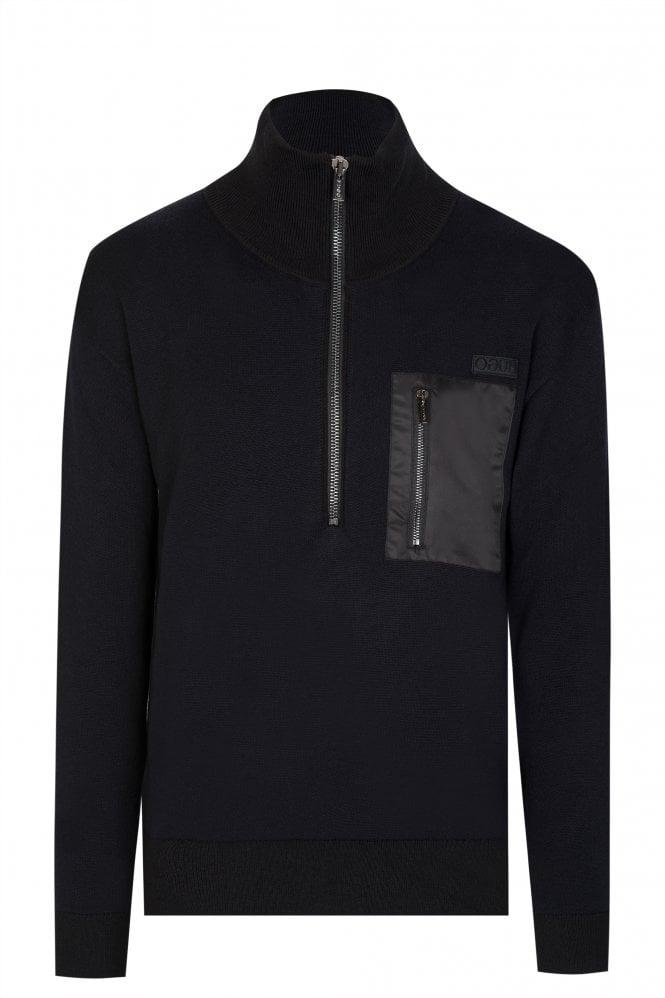 Hugo Boss Zip-through Knitted Sweater