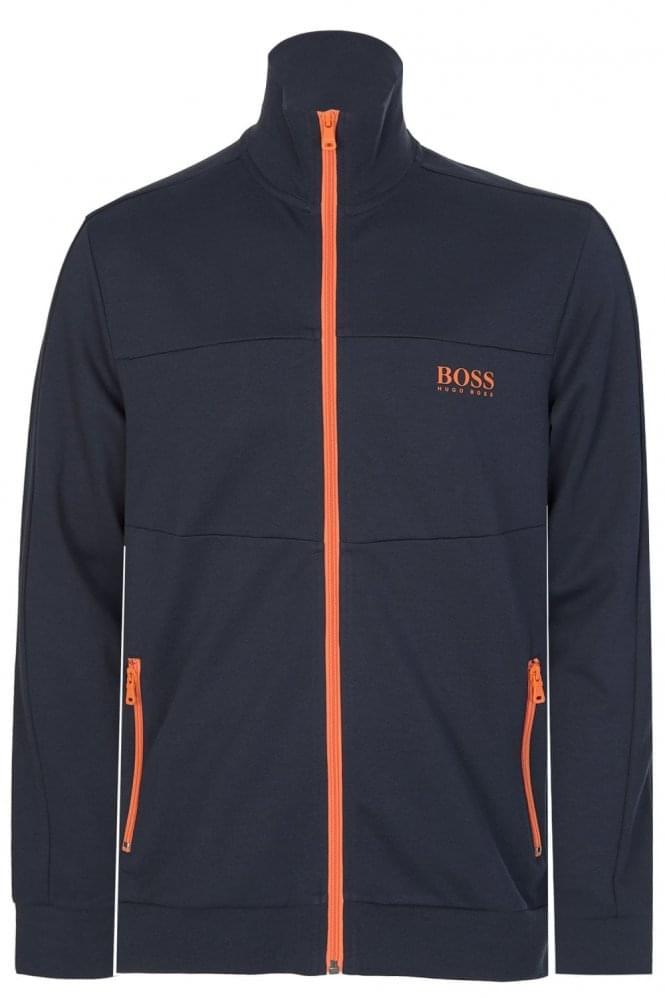 Hugo Boss Zip Up Contrasting Jacket Navy