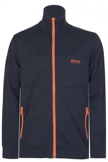 Hugo Boss Zip Up Contrasting Jacket Navy