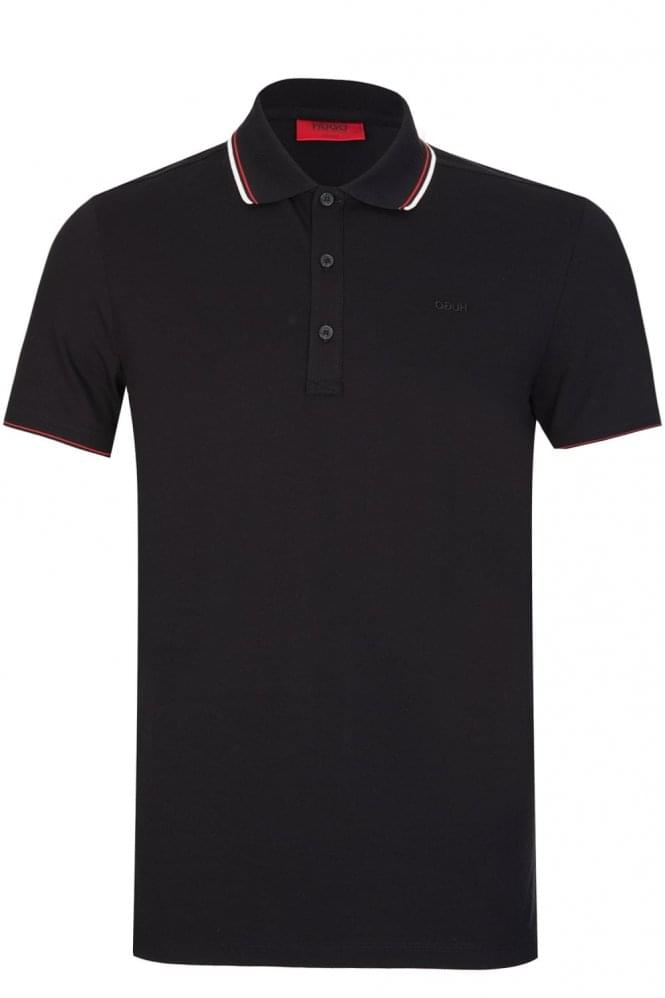 HUGO by HUGO BOSS Dasto Polo Black
