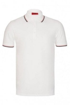 Hugo By Hugo Boss Dasto Slim Fit Polo White