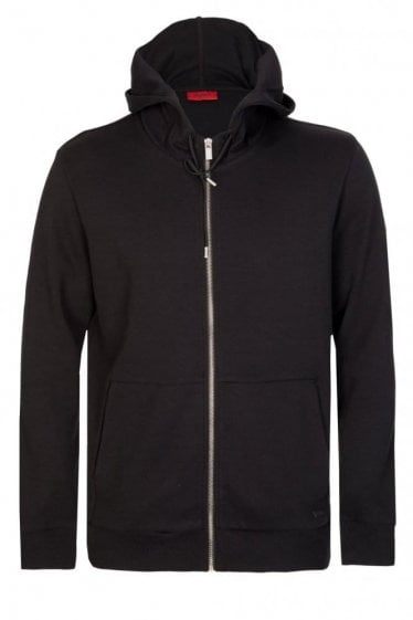 Hugo By Hugo Boss Dattis Zip Hoodie Black
