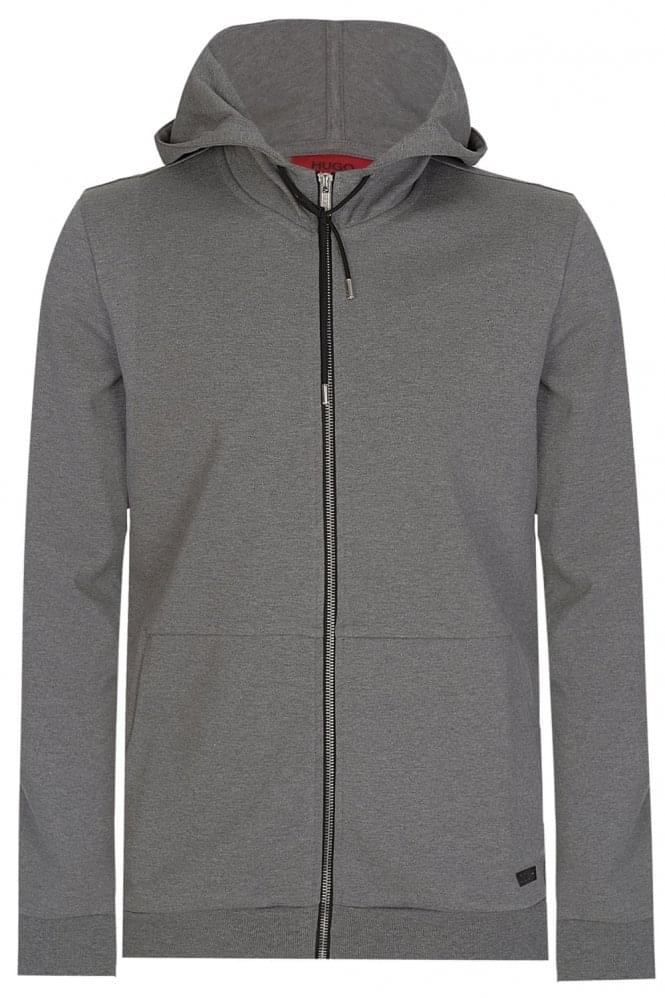 HUGO by HUGO BOSS Dattis Zip Hoodie Grey