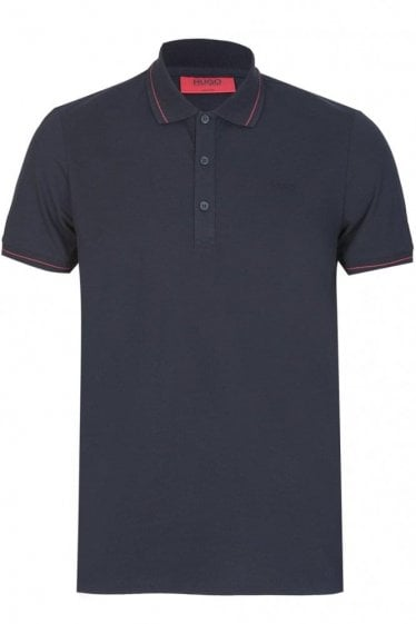 Hugo By Hugo Boss Daymont Slim Fit Polo Black