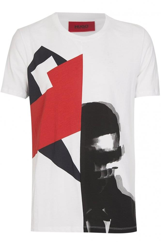 HUGO by HUGO BOSS 'Dwin' T-Shirt White