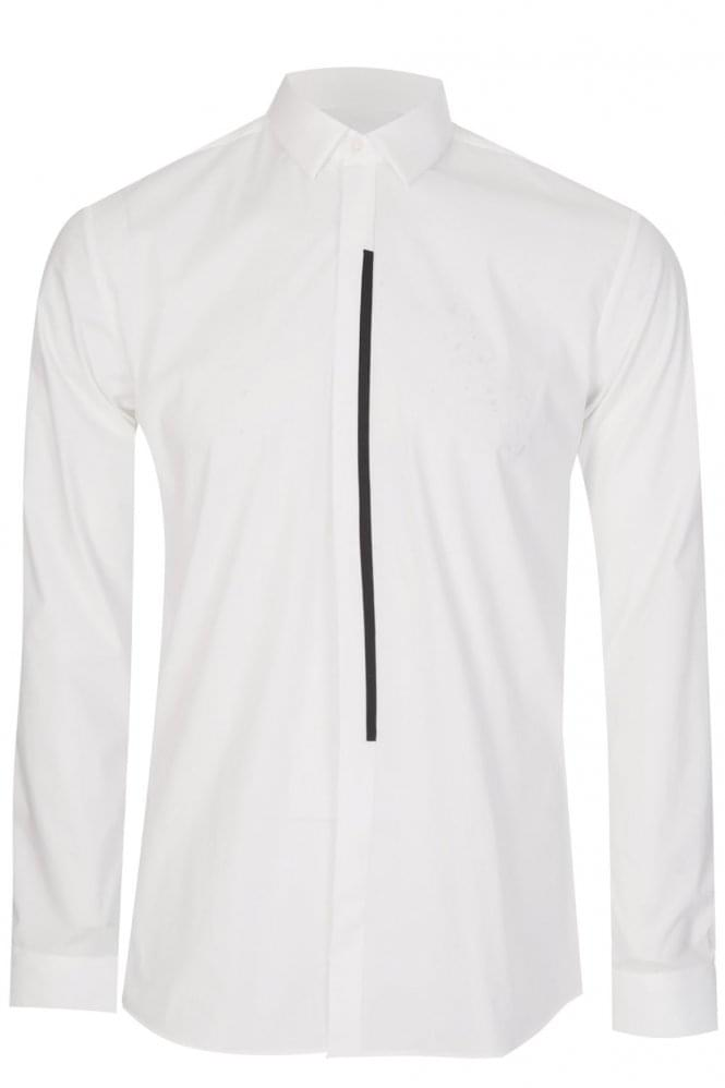 HUGO by HUGO BOSS Emac Extra Slim Fit Cotton Shirt White