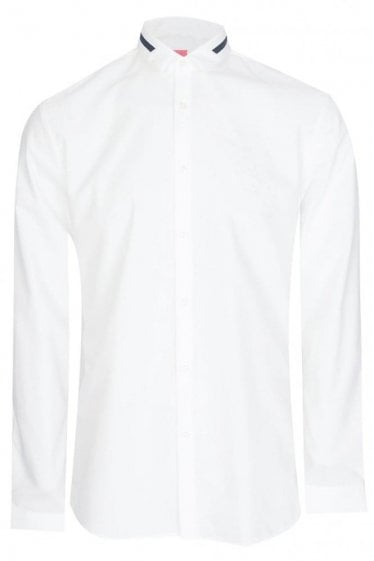 Hugo By Hugo Boss Erving Extra Slim Fit Cotton Shirt White
