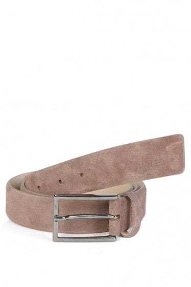 Hugo By Hugo Boss GAVRILO-SL_SZ30_SD Suede Belt Brown