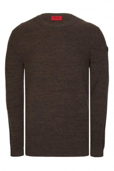Hugo by Hugo Boss Somael Green Knitted Jumper