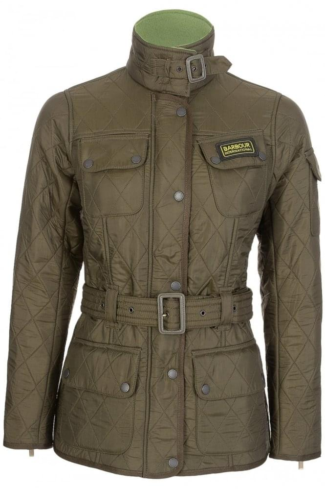 Barbour Womens International Polarquilt Jacket Olive