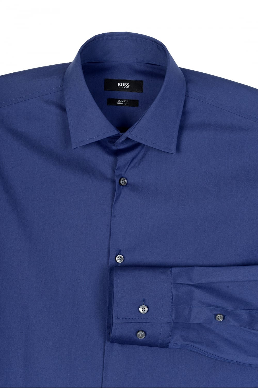 5fb6a18fb BOSS Hugo Boss Jenno Slim Fit Shirt Navy - Clothing from Circle ...