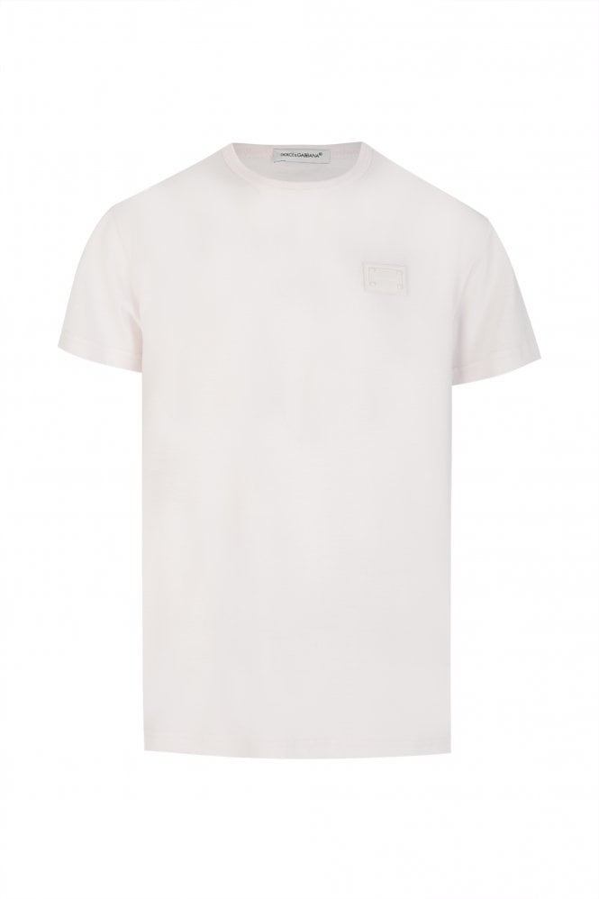 Jersey T-shirt With Logo Tag