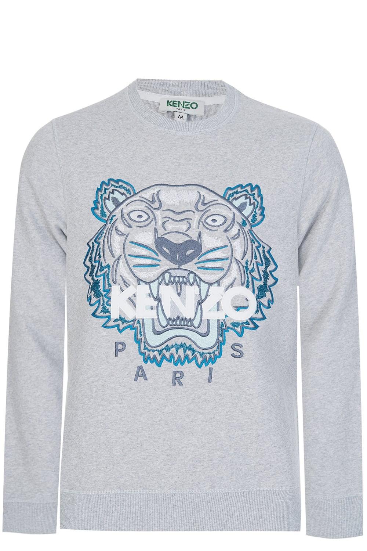 5f8406d322 Kenzo Embroidered Tiger Sweatshirt Grey